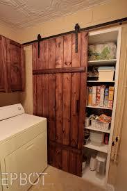 Closet Barn Doors Epbot Make Your Own Sliding Barn Door For Cheap