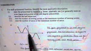 describe polynomial function communication test question describe polynomial function communication test question