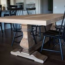 7ft dining table: pecan trestle dining table  pecan trestle dining table
