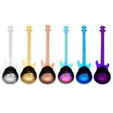 Jarhit 6 Pcs Coffee Teaspoons Guitar Spoon,<b>Stainless Steel</b> Colorful ...