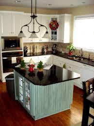 green retro kitchen cabinets black