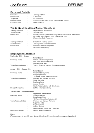 apprenticeship plumbing resume s apprentice lewesmr sample resume auto body work resume for apprenticeship