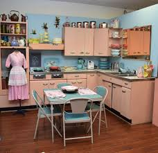 st charles kitchen cabinets: amy saves a  harrison pink steel kitchen now on display in her vinta