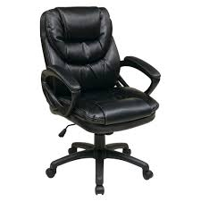 faux leather managers chair in black amazing home depot office chairs 4 modern