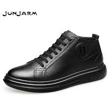 <b>JUNJARM</b> 2019 <b>Fashion Men</b> Ankle <b>Boots</b> Winter High Top <b>Men</b> ...