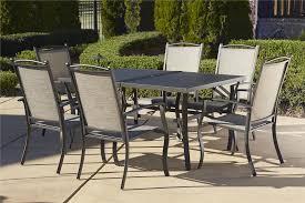 cosco outdoor 7 piece serene ridge aluminum patio dining set dark brown image brown set patio source outdoor