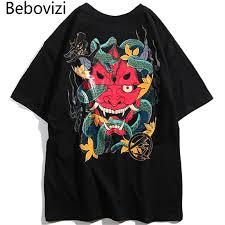 <b>Bebovizi Harajuku Hip Hop</b> Men Snake Ghost T Shirt Japan ...