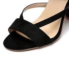 Sandals for Women Solid Cross Strap Kitten Heels Ankle <b>Lace</b> Up ...