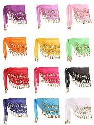 <b>12</b> Pieces <b>Belly</b> Dance Skirt Hip Skirt <b>12 Colors</b> Waist Chain Dance ...
