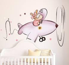 Kids <b>Little</b> Mouse in <b>Plane Sticker</b> - TenStickers