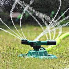 Automatic <b>360 Rotating Adjustable</b> Garden <b>Water</b> Sprinklers with 3 ...