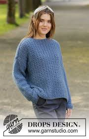 <b>Blue</b> Jeans / DROPS 205-42 - Free <b>knitting</b> patterns by DROPS Design