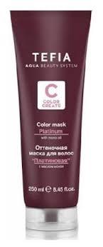 Tefia Color Creats <b>Оттеночная маска для волос</b> Платиновая ...
