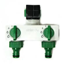 <b>Гребенка</b> для садового полива на 2 выхода <b>Green Helper</b> HC ...