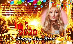Happy New Year Photo Frame 2020-New Year Greetings for ...