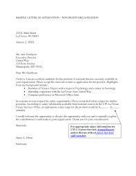 cover letter for non profit template cover letter for non profit