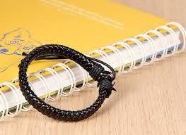 Fit 7-10 inch Wrist Flongo <b>Mens</b> Womens <b>Braided Leather Rope</b> ...