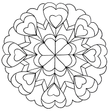 Small Picture Love mandala coloring pages for teens ColoringStar