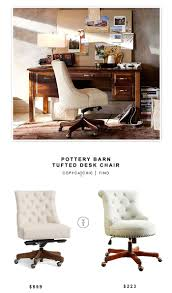 potterybarn tufted desk chair 599 vs amazon linon sinclair executive office chair 223 chic office ideas furniture dazzling executive office
