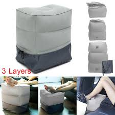 3 Layers Inflatable <b>Portable Travel Footrest</b> Pillow Plane Train Kids ...