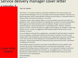 service delivery manager cover letter slideshare resume sample cover letter customer sample customer service supervisor cover letter