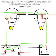 electrics two way lighting the following diagram resembles how the top schematic diagram is wired it should be noted that both the lamps must be on the same circuit otherwise what is