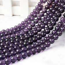 <b>LanLi 6 8</b> 10 12mm <b>fashion natural</b> Jewelry purple crystal stone ...