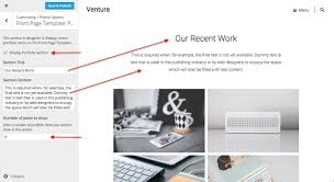 venture theme wordpress themes for at wordpress com venture front page portfolio