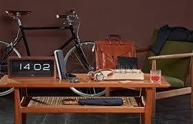 brick vintage flip clock copper brick desk wall clock