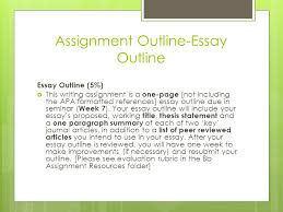 how to write an essay outline and how to draft the first page of  assignment outline essay outline essay outline   this writing assignment is