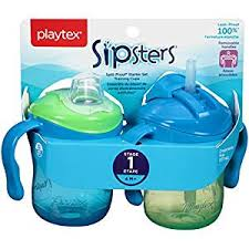 Playtex <b>Baby</b> Sipsters <b>Spill</b>-<b>Proof</b> Training Cup with Removable ...