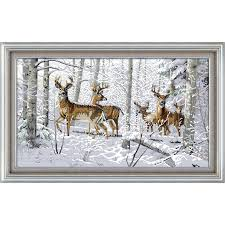 <b>Everlasting love Christmas</b> Antelopes in the snow Ecological cotton ...