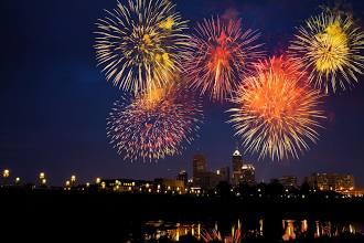 Baseball & fireworks