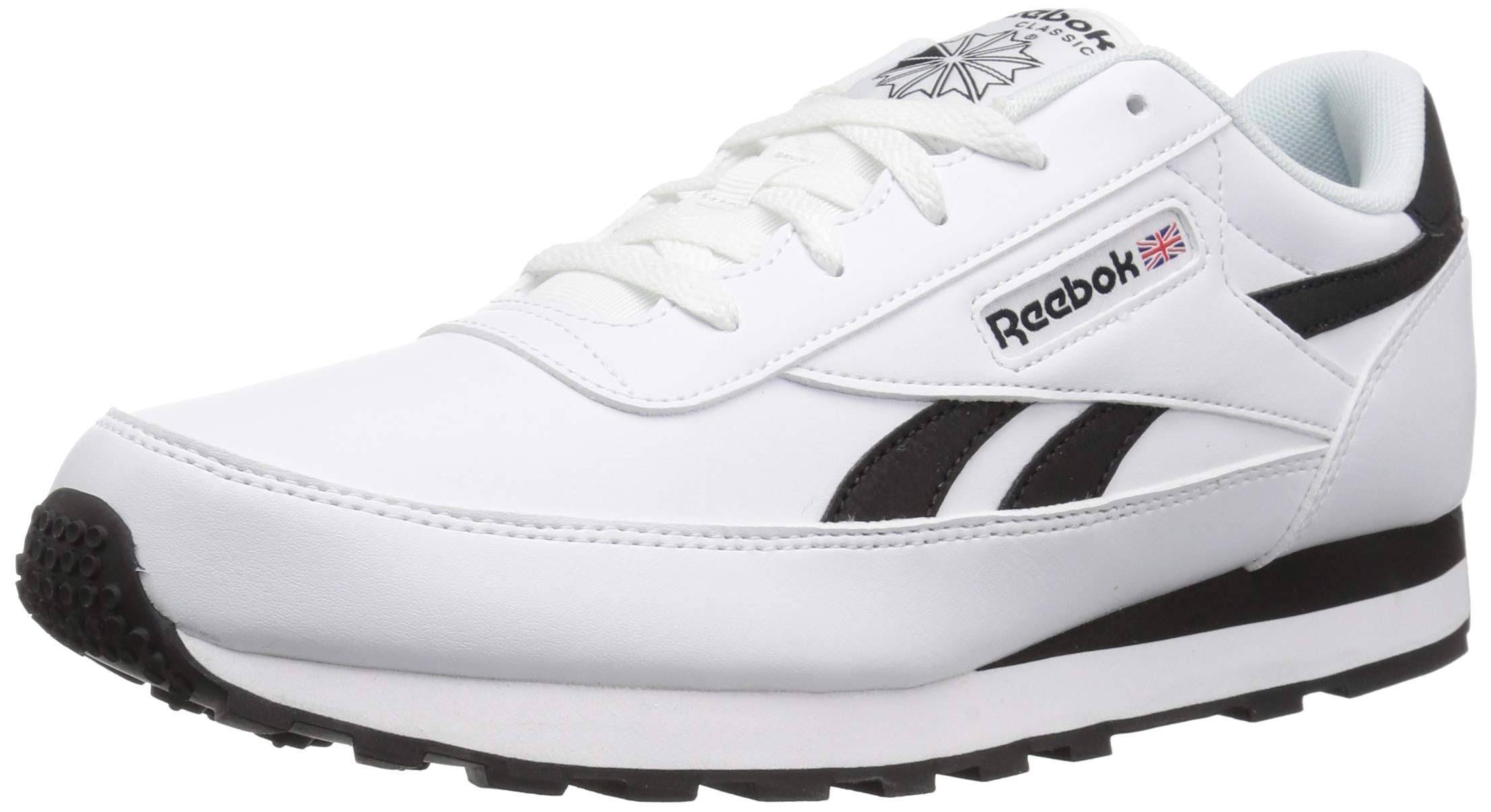 6 Sneaker Cl Hombres Blanco Renaissance Negro Reebok 7gRvqYx