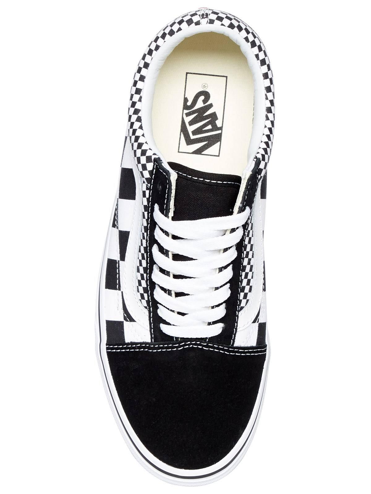 Mix Negro Blanco Vn0a38g1q9b hombre Skool Vans Checker 11 Old qwEgRg