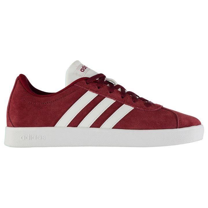 Talla Vl Court Rojas Zapatillas 5 5 Suede Junior Adidas wTpBffzqxP