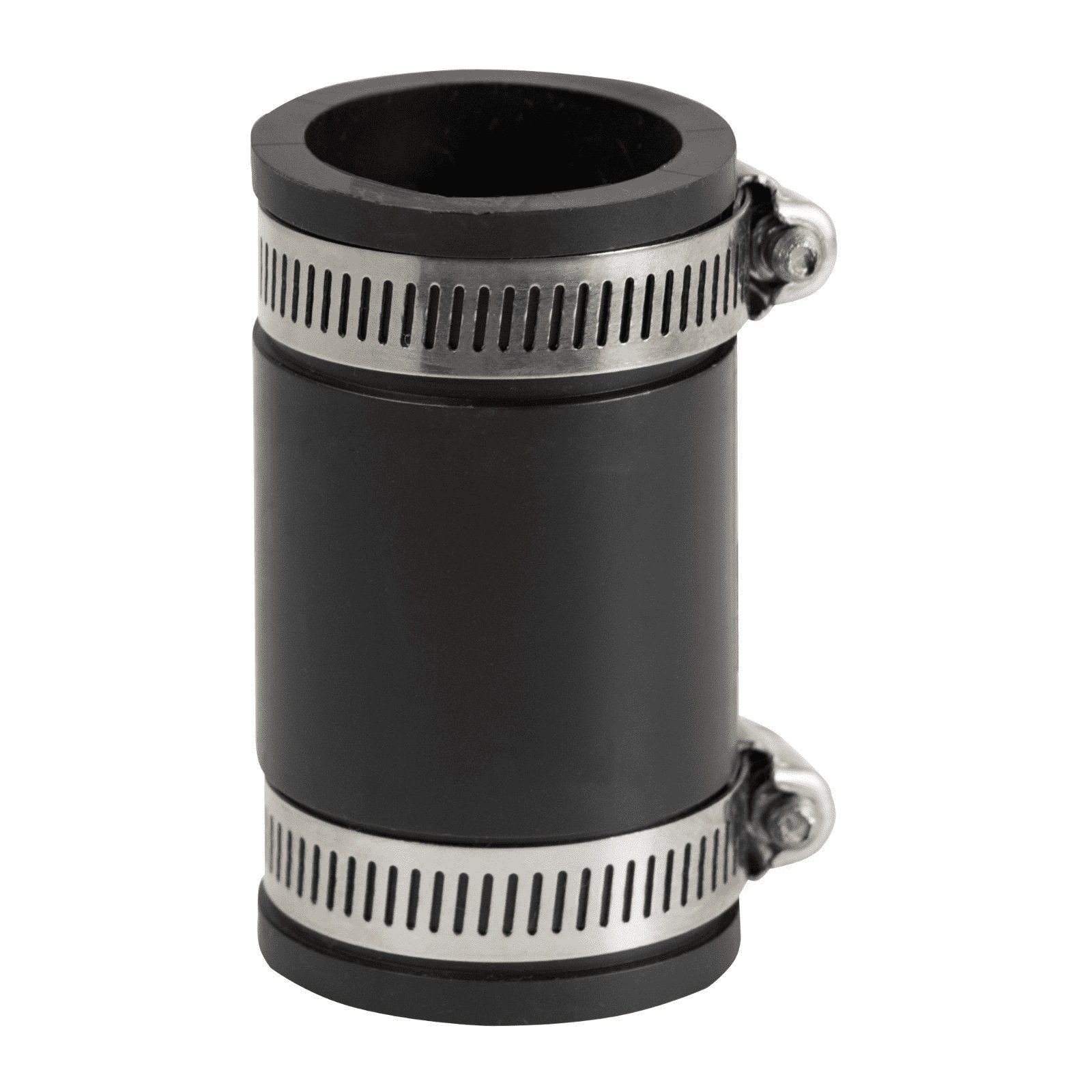 "EVERFLOW, 4824 ,1.5"" Black Flexible Pvc Rubber Coupling with Stainless Steel Clamps, M78448"