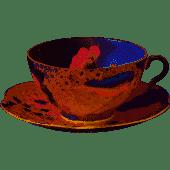 Cuckoo Peach Teacup & Saucer