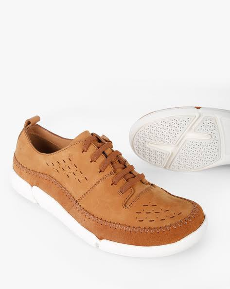 up Lace Clarks Low Shoes top brown Casual PtPqESx8w