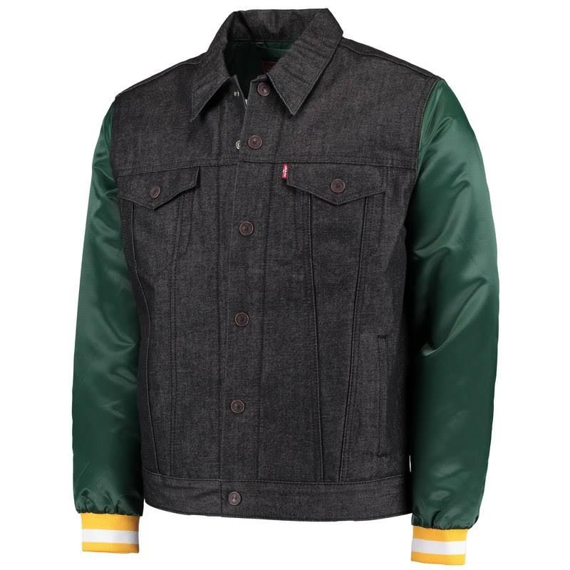 Vaquero Extra Packers Tamaño Bay Abotonada Camisa Levi's Green Grande De Camionero Negro ROnTnH