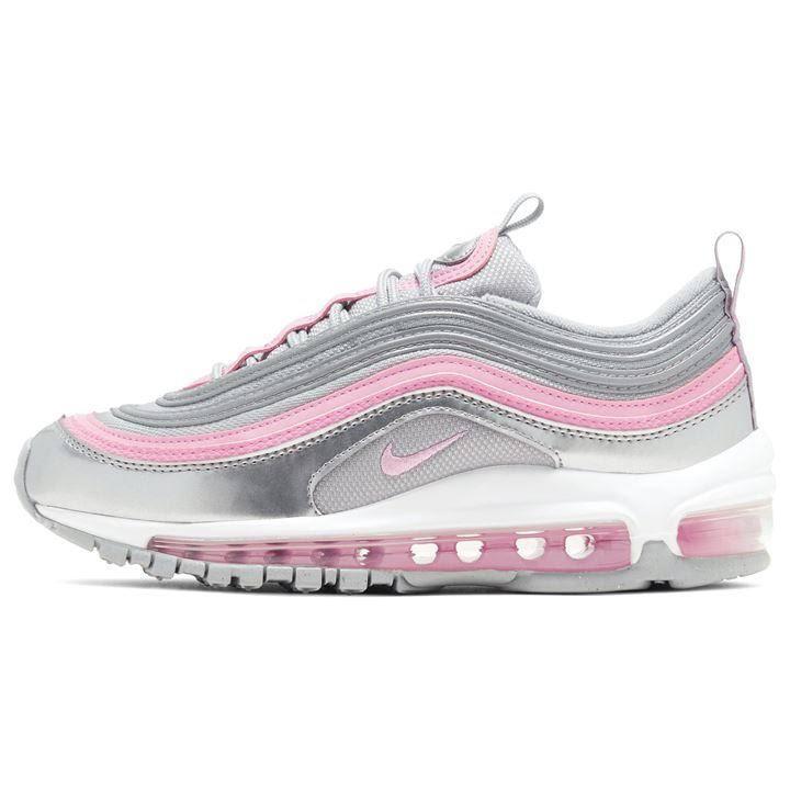 Nike Air Max 97 Trainers Junior Girls, 5, Grey/Pink