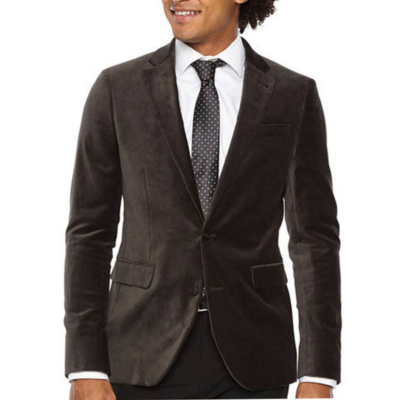 Slim Jf Regular 40 Gris ferrar Stretch Fit Hombre Gris Velvet Sport Coat J xaqawIR
