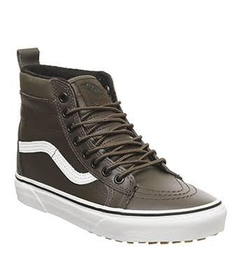 Vans Hi Mte Brown Leather Sk8 Rain Drum 55rw8qS