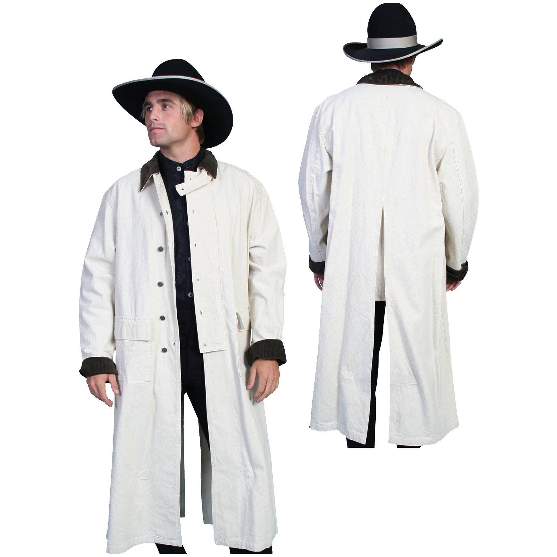 Button Western Scully Natural Xxl Herren Jacket Rw107 Canvas Duster AvTTqSXx
