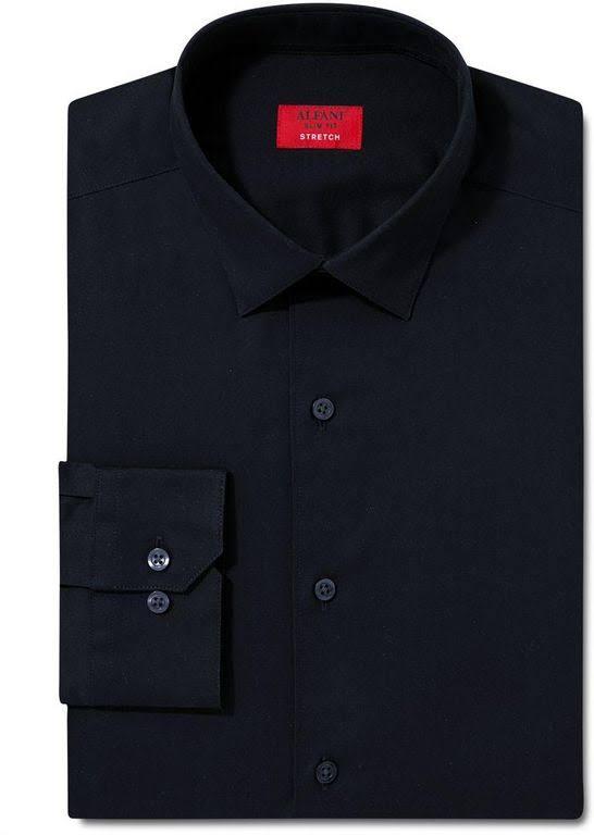 Alfani Slim Für Spectrum Herren Schwarz Fit Hemd r4q5rwp