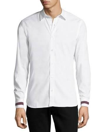 Herren Burberry manschette Sporthemd Weiß L Herren Reynoldton Stripe HwZ4qfZ