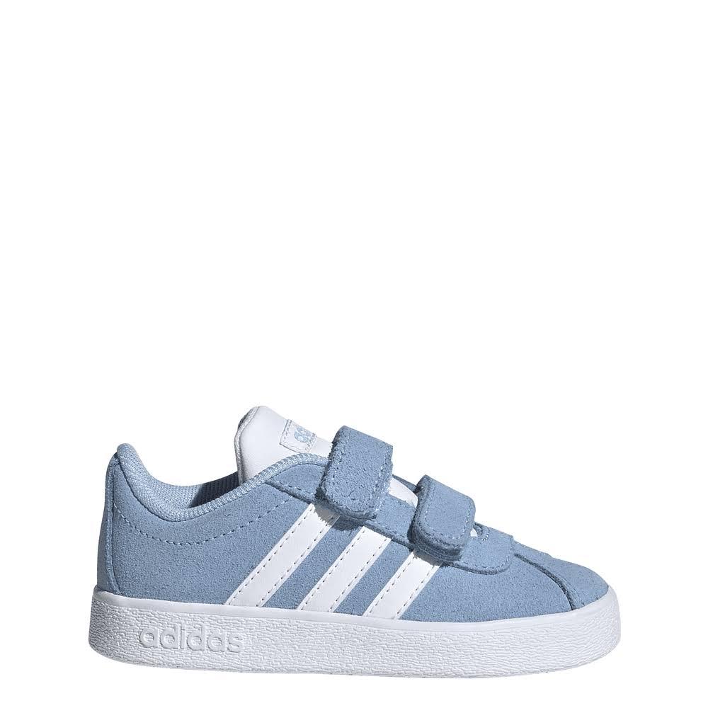 Adidas Kids VL Court 2.0 Shoes Size: UK 9c, Colour: Blue