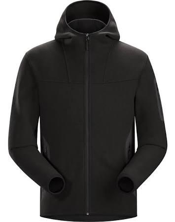 Hombre Covert Con Capucha Fleece Arc'teryx M Negro Chaqueta OCBqw1W