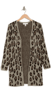 .97 Randee Long Patterned Cardigan + Free shipping over  at Nordstrom Rack!