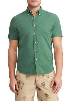 De Hombre L Para Stuart Camisa Corte Polo Clásico Ralph Lauren Oxford Verde 6FaqAa